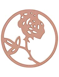 MS Koins Stainless Steel Rose Coin Rose Gold Plated Fits Our Coin Locket System, 30mm Diameter