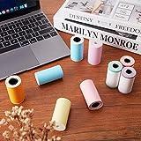 9 Pieces Thermal Printer Paper Colorful Mini