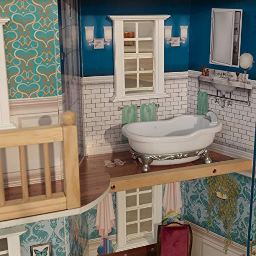 51TN 8 dQvL - KidKraft So Chic Dollhouse with Furniture