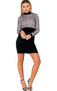 fb3f8e2f4d1e3 Ikrush Womens Frankie Diamante Back Long Sleeved Jumper Dress Black ...