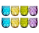 QG Clear Colorful Acrylic Plastic 14 oz. Wine Glass Rock Tumbler Set of 8 in 4 Assorted Colors Review
