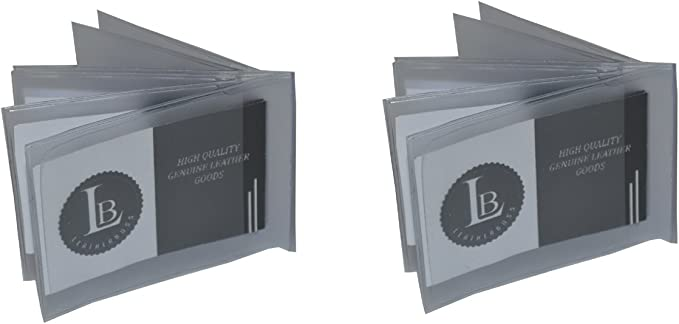 Regular 6 Pages Wallet Insert Premium Quality from Leatherboss Set of 2
