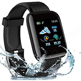 2020 New Model Smart Watch,Men's and Women's Fitness Tracker, Blood Pressure Monitor, Blood oximeter, Heart Rate Monitor…