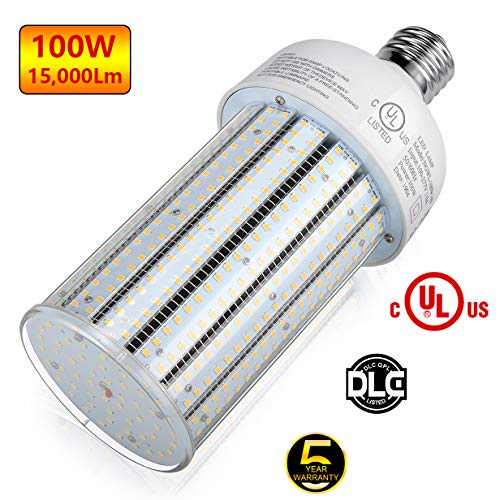 Mh Bulb 400w Lamp - LED Corn Bulb 100W Mogul Base 5,000K Daylight Replacement for 250W/ 400W/ 450W Conventional HID/MH/HPS Light High Bay Low Bay Street Floodlight Area Fixture DLC UL Listed