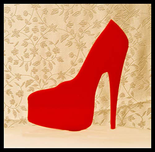 Liz66Ward Red Platform High Heel Shoe Birthday Cake Toppers for Women,Girls Birthday Cake Topper Funny ()