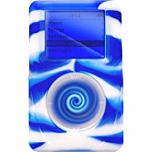reEVOlutions iSkin eVo2 Silicone Skin Case for 40 GB iPod classic 4G (Wild Side Blue/White Swirl)