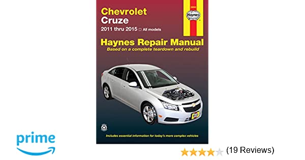 Chevrolet Cruze 2011 Thru 2015 All Models Haynes Repair Manual