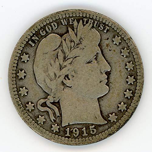 1915 D Barber Quarter VG-10