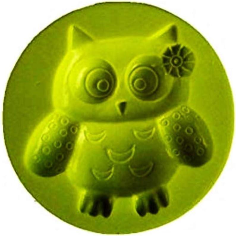 KIRALOVE Molde de Silicona en Forma de b/úho con Lazo en la Cabeza Plantilla para Uso Artesanal Bricolaje moldes Hobby h/ágalo Usted Mismo