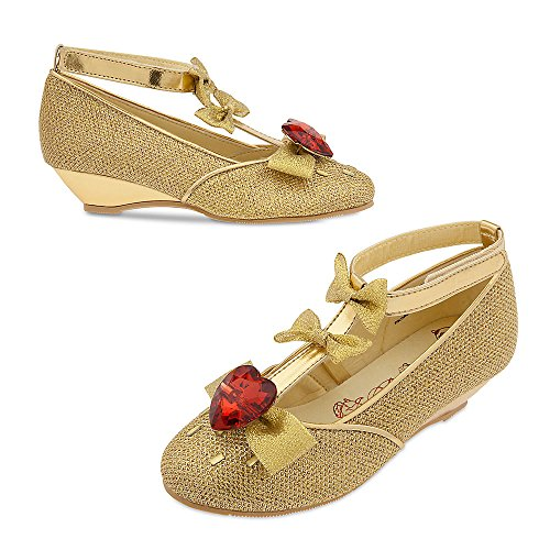 [Disney Belle Costume Shoes for Kids Size 2/3 YTH Yellow] (Costumes Shoes For Kids)