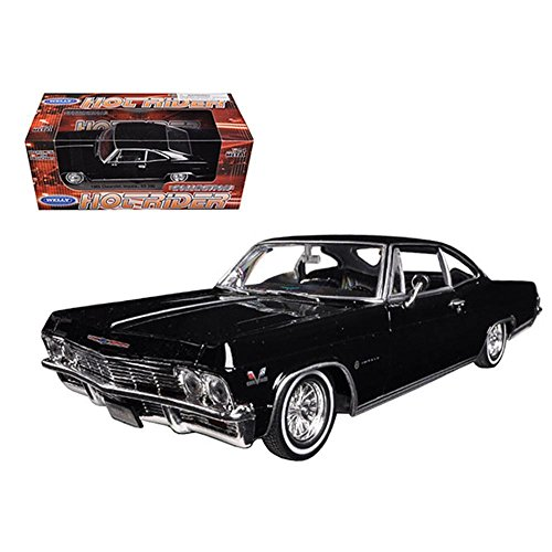 - Welly 1965 Chevrolet Impala Black Low Rider 1/24 Scale Diecast Model Car Black