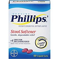 Phillips' Stool Softener Liquid Gels, 60 Count