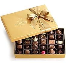 Godiva Chocolatier Gold Ballotin, Classic Gold Ribbon, Great for Valentines Day, 36 Piece
