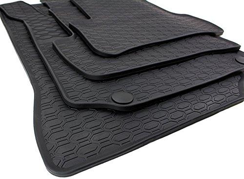 kfzpremiumteile24 tappetini in gomma zerbini Gomma nera di qualità originale con 4 pezzi