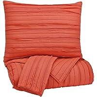 Ashley Furniture Signature Design - Solsta Coverlet Set - Includes Coverlet & 2 Shams - Queen Size - Coral