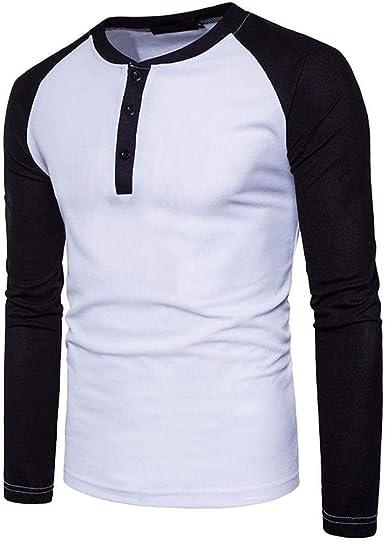 Ropa De Hombre Hombre Nnen Moda Pullover Camisa Larga Modernas Casual Slim Fit Tops Patchwork Blusas Otoño Deporte Al Aire Libre Tops De Manga Larga: Amazon.es: Ropa y accesorios
