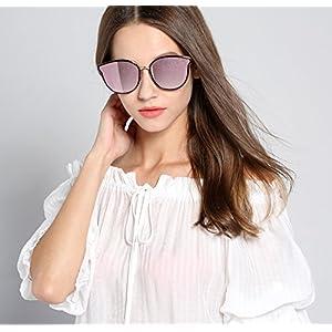 Oversized Sunglasses for Women, Round Mirroed lens U117