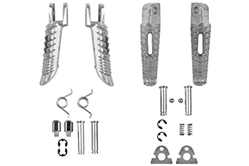 Polish Front Rear Foot Pegs Footrest Kit For Suzuki GSXR 600 750 2000-201 GSXR 1000 2000-2011