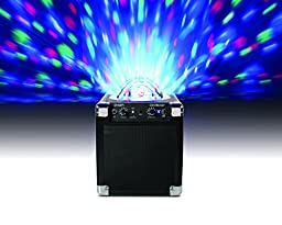 ION Audio House Party (iPA18L) | Portable Sound System with Built-In Light Show (Black / 8W)