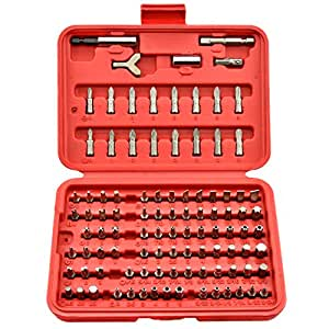Neiko® 10048 Security Bit Set, Chrome Vanadium Steel | 100-Piece Set