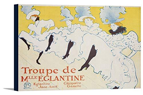 Troupe de Mlle Eglantine Vintage Poster (artist: Toulouse Lautrec, Henri De) France c. 1896 (36x24 Gallery Wrapped Stretched Canvas) ()