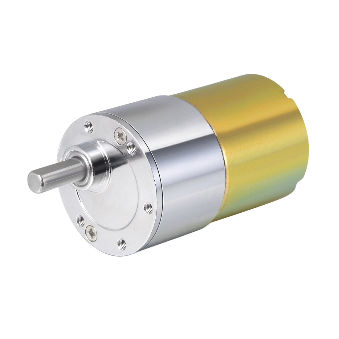 uxcell 12V DC 300 RPM Gear Motor High Torque Electric Reduction Gearbox Eccentric Output Shaft