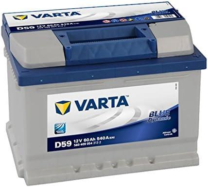Varta Blue Dynamic D59 Batería de arranque, 5604090543132, 12V, 60 Ah, 540 A