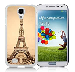 Personalized eiffel tower 2 Unique Custom White Case For Samsung Galaxy S4 Case