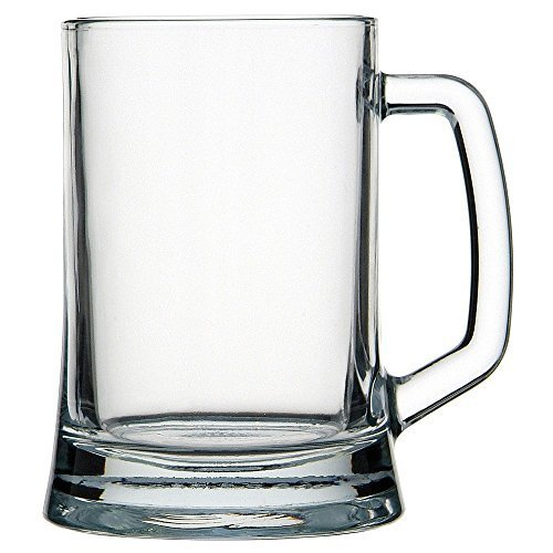 Circleware 55665 Tavern Handle, Set of 2 Beer Mugs, Huge 22 Ounce Glasses, Kitchen Glassware 2-pc. Set for Water, Coffee, Wine, Whiskey and Best Selling Beverage Drinks, 22-oz, Clear - Glass Beer Mug Set
