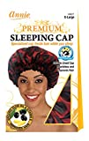 Annie Premium Deluxe Sleeping Cap, Red and Black, X-Large