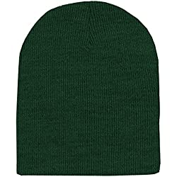 Forest Green Winter Beanie Hat