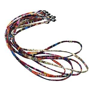 HOMYL 5Pieces/Pack Multi Color Sunglasses Strap Eyeglass Glasses Retainer Holder Necklace