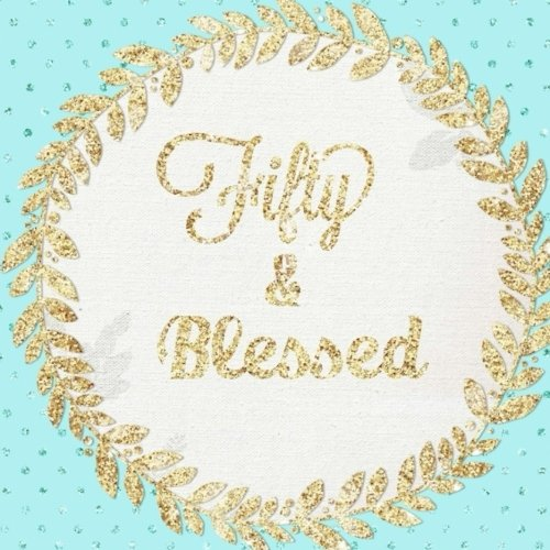 Fifty and Blessed: 50th, Fifty, Fiftieth, Large Square, Birthday Anniversary Party Guest Book, Message Book, Keepsake, Formatted Lined & Unlined Pages ... Paperback (Gold Guest Book) (Volume 8) ebook
