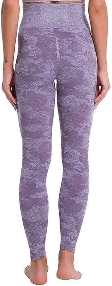 Leggings sin costuras para mujer con diseño de camuflaje