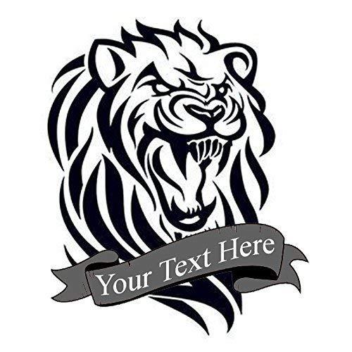 Amazon.com: Custom tribal lion temporary tattoo | Fake removable ...