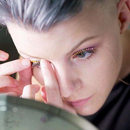 Sunsent LED Eyelashe LED Light Eyelash Shining Eyeliner Charming Unique Waterproof Eyelid Tape Nightclub DJ Deco (Purple)
