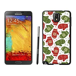 Personalization Gloves Christmas Pattern Black Samsung Galaxy Note 3 Case 1