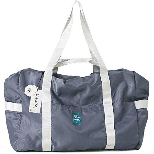 VanFn Foldable Travel Duffel Bag, Sports Duffels Gym Bag, Rainproof Nylon Totes, Sports Shoulder Handbag, Lightweight Duffle Bags For Women & Men, Outdoor Weekend Bag, P.Travel Series (Ink Gray) from VanFn
