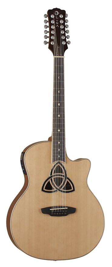 Luna TRI 12 - Guitarra electroacústica (12 cuerdas), color marrón