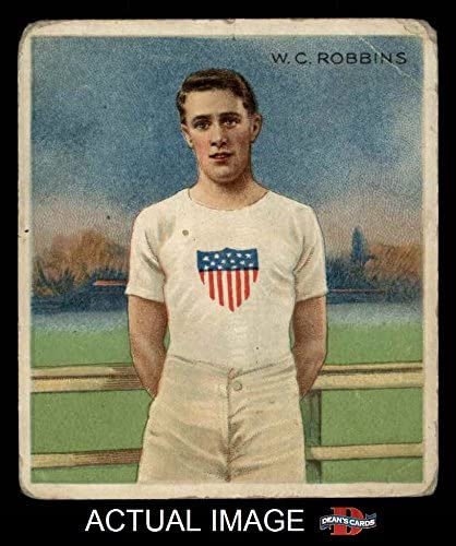 1910 T218 Champions # 47 W.C. Robbins (Baseball Card) Dean's Cards 1.5 - FAIR 51TN5mGJ-xL