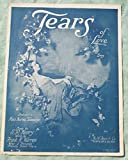 Ephemeral Sheet Music for Piano, Tears of Love Song Dedicated to Miss Norma Talmadge, Vintage (Not a Reproduction)