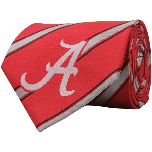NCAA Alabama Crimson Tide Crimson Silk Striped Poly Tie
