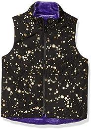 Amazon Brand - Spotted Zebra Girls Reversible Plush Vest