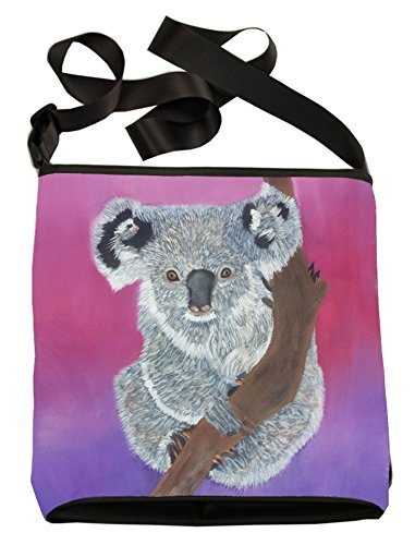 Large Cross Body Bag - Wearable Art, From My Original Paintings - Support Wildlife Conservation, Read How (Koala Bear)
