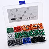 Hilitchi 800pcs 10-24 A.W.G Wire Copper Crimp Connector Insulated Cord Pin End Terminal Kit