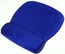 Staples Deluxe Mouse Pad with Gel Wrist Rest, Blue
