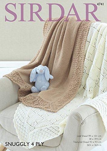 Sirdar Baby Shawls Knitting Pattern 4741 4 Ply Amazon