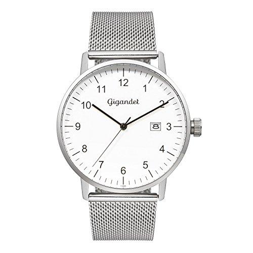 Gigandet Men's Quartz Watch Minimalism Analog Stainless Steel Bracelet Silver G26-005