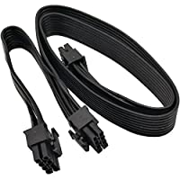 COMeap ATX CPU 8 Pin Male to Dual PCIe 2X 8 Pin (6+2) Male Power Adapter Cable for Corsair Modular Power Supply 25-inch…