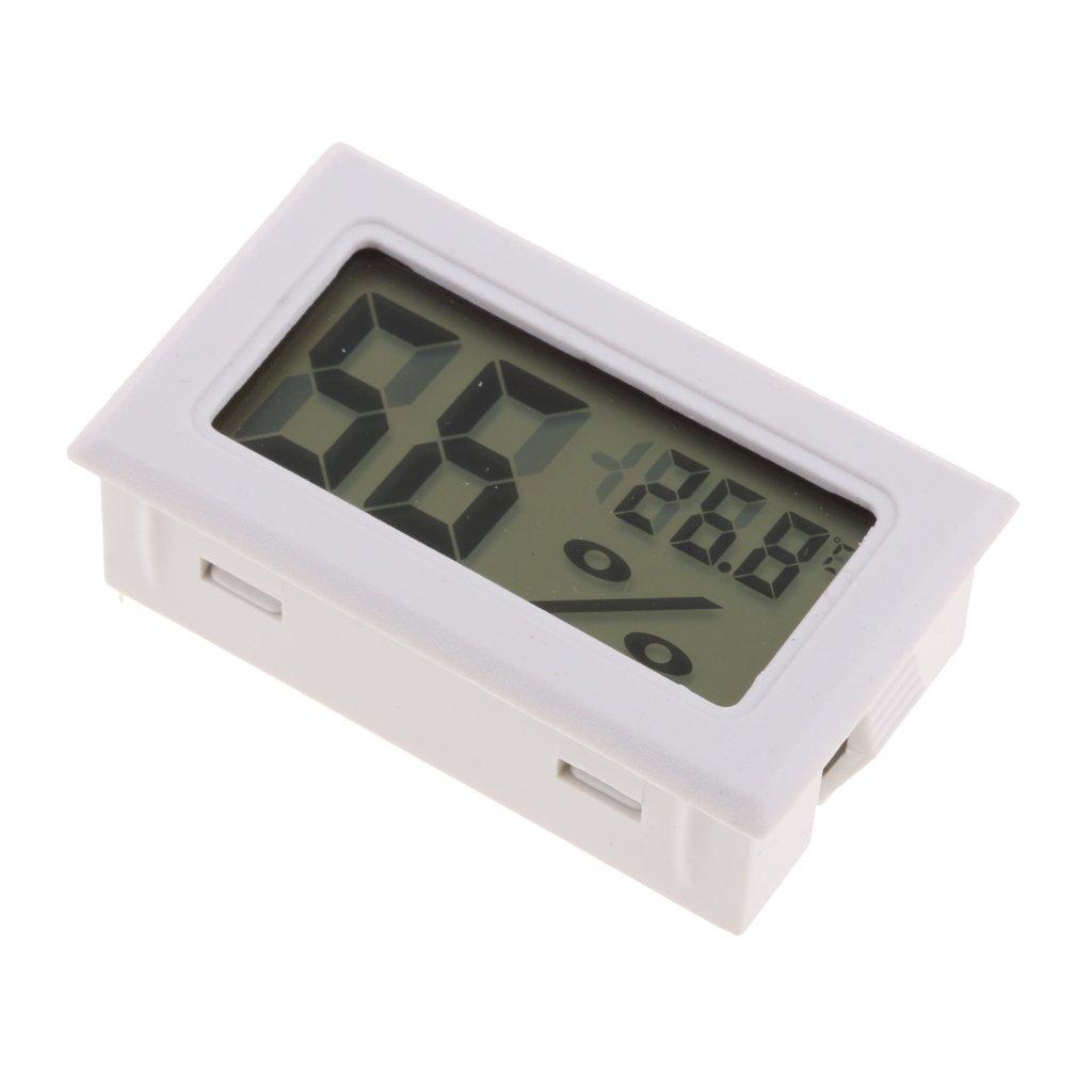 Homyl Thermomè tre Horloge Ré veil Digital Numé rique LCD Tempé rature Hygromè tre - Noir